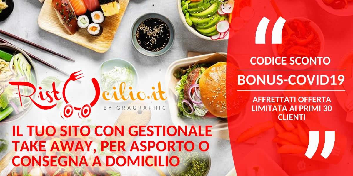 Rivolgiti a Ristocilio by Gragraphic per la realizzazione del tuo sito delivery a Umbria